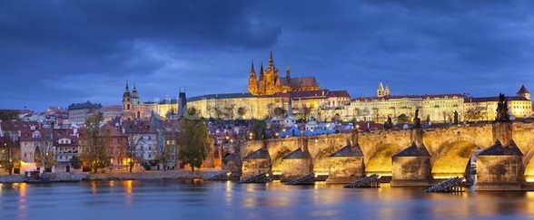 Prague at Night wallpaper mural