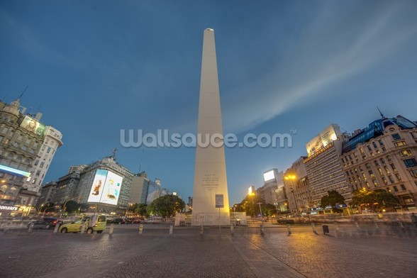 The Obelisk, Buenos Aires. wall mural
