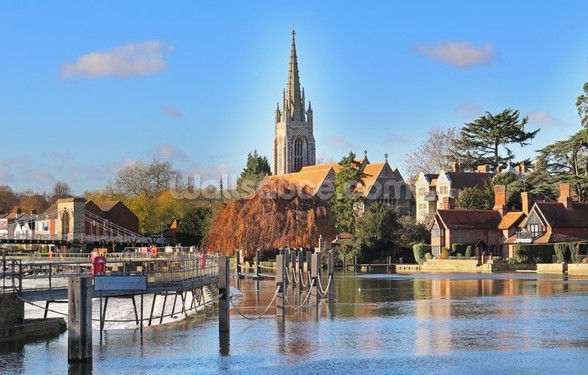 River Thames at Marlow wall mural