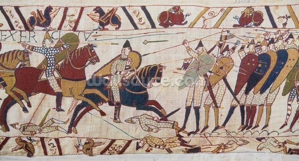 Bayeux tapestry - Norman invasion of England wall mural