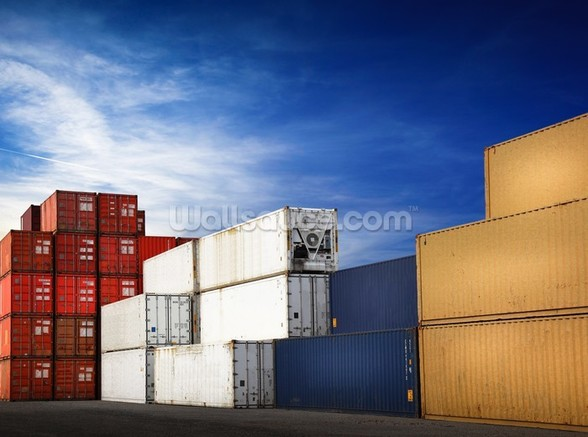 Shipping Containers wallpaper mural