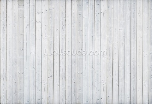 White Wood Wall wall mural