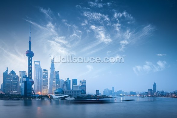 Shanghai at Dawn wallpaper mural