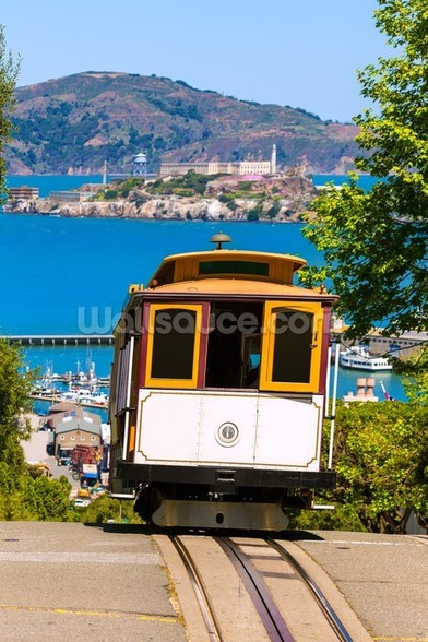 San francisco Cable Car wall mural