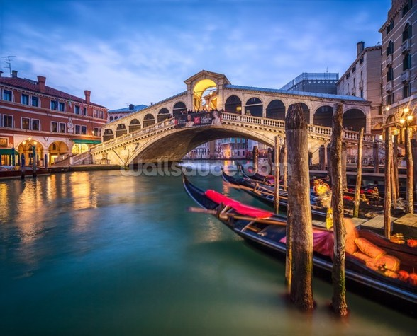 The Rialto Bridge mural wallpaper