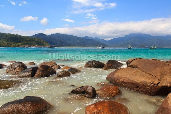 Ilha Grande Beach, Brazil mural wallpaper