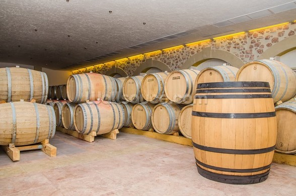 Barrels of Wine wall mural