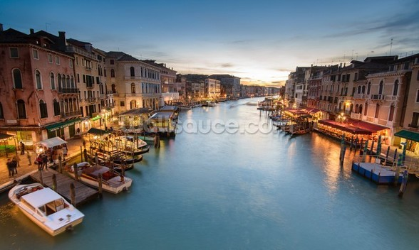 The Grand Canal from Rialto wall mural