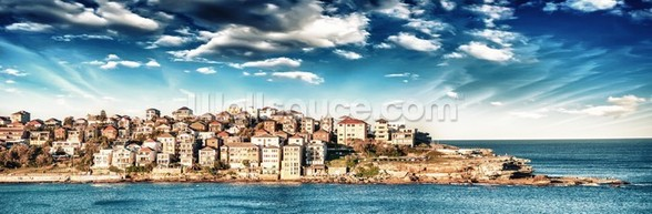 Bondi Beach panoramic - Sydney wallpaper mural