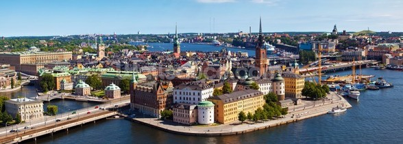 Stockholm City mural wallpaper