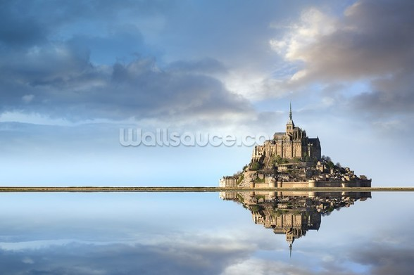 Mont Saint-Michel, Normandie wallpaper mural