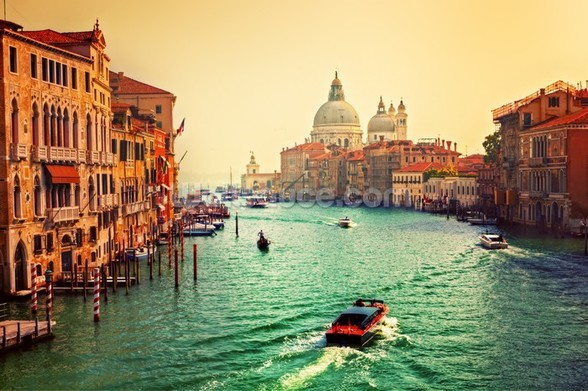 Venice Sunset mural wallpaper