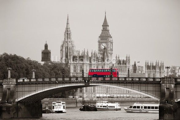 London Bus wallpaper mural
