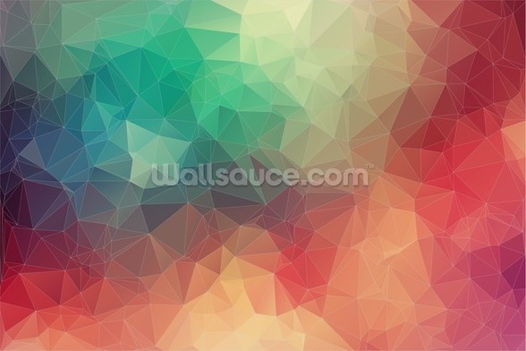 Abstract 2D Geometric wall mural