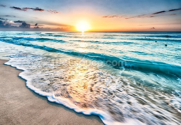 Cancun Beach Sunrise, Mexico mural wallpaper