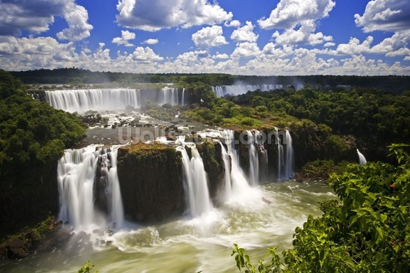Iguassu Falls Series of Waterfalls wallpaper mural