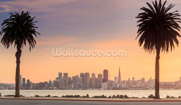 San Francisco from Treasure Island. wallpaper mural