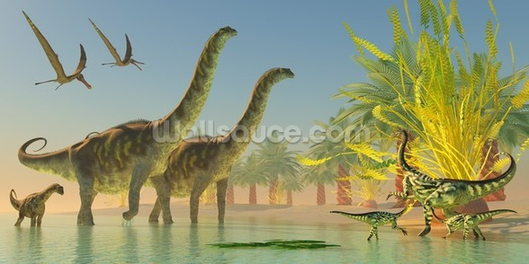 Argentinosaurus in Lake wall mural