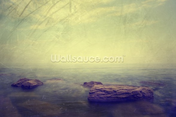Grunge Seascape wallpaper mural