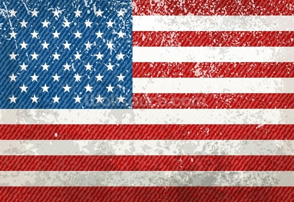 Vintage American Flag mural wallpaper