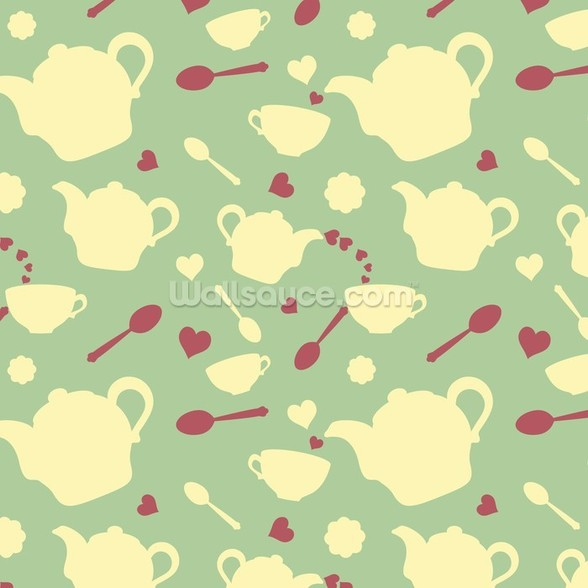 Tea time mural wallpaper