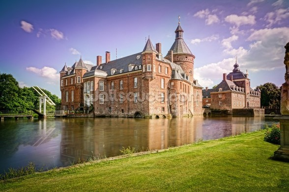 Castle and Moat, Anholt mural wallpaper