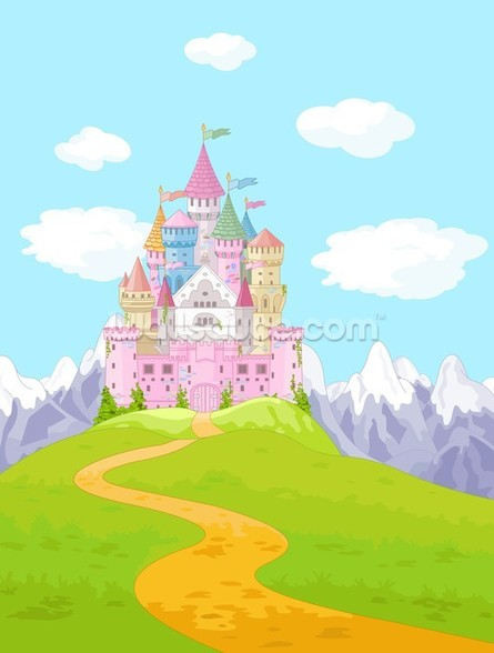 Fairytale Castle Landscape mural wallpaper
