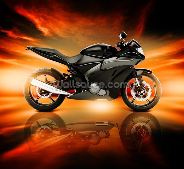 Motorcycle Skyline Horizon wall mural