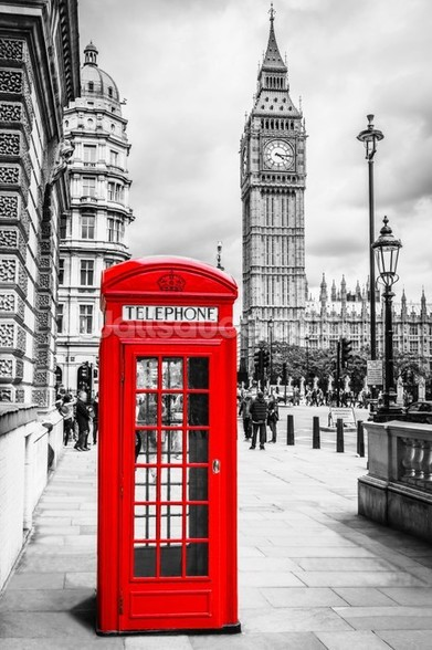 London Telephone Box wall mural