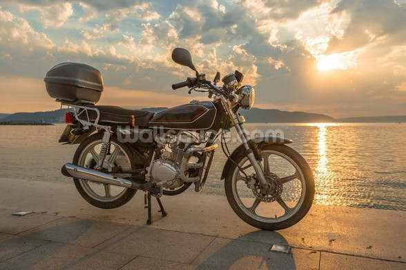 Motorbike Sunset wall mural