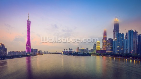 Guangzhou Skyline wallpaper mural