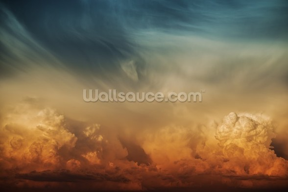 Stormy Cloud Nature Backdrop wall mural