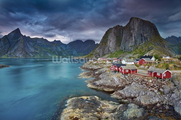 Norweigan Landscape mural wallpaper