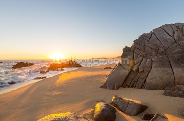 Coastal Sunset Over Beach wall mural