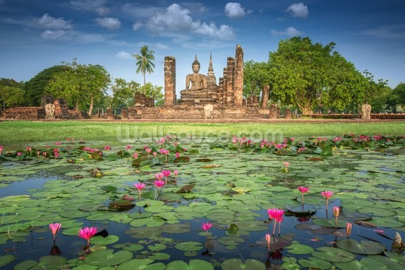 Sukhothai Temple mural wallpaper