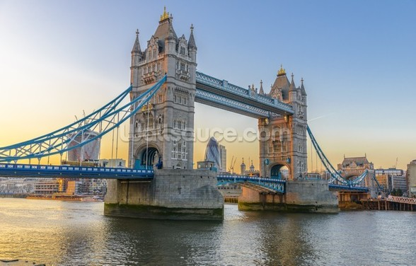 London Tower Bridge at Sunset mural wallpaper