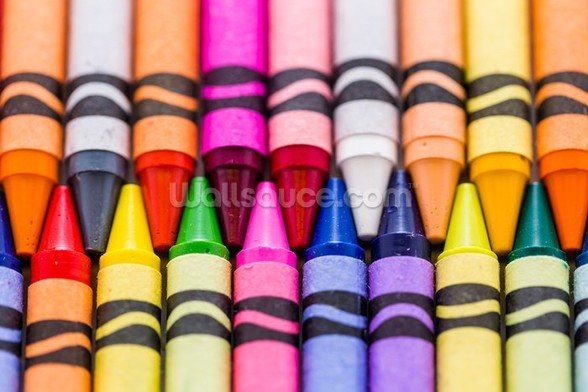 Crayons wallpaper mural