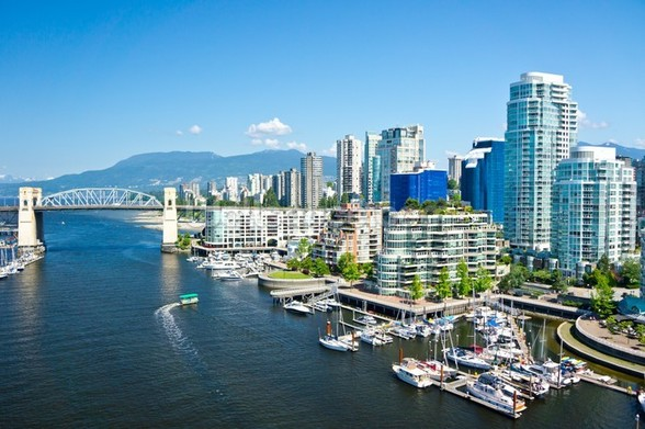 View of Vancouver wall mural