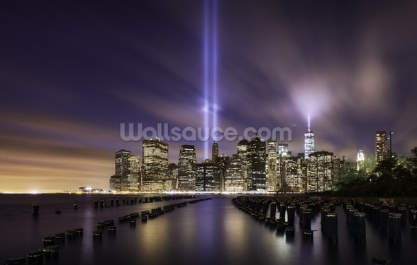 New York - Tribute Lights 9-11 wall mural