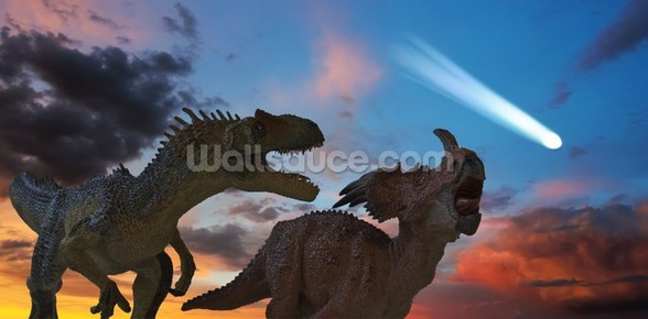 Dinosaurs Battle as the Comet Approaches wall mural