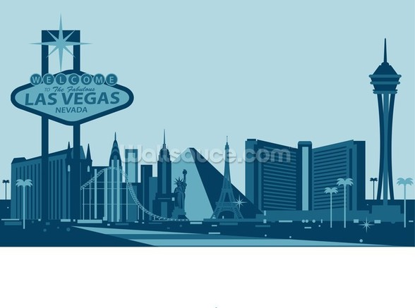 Las Vegas Skyline Abstract wallpaper mural