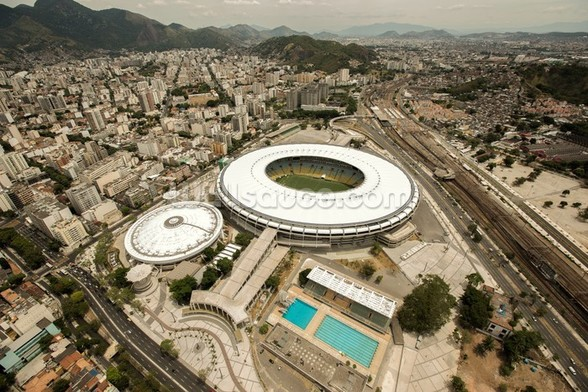 Aerial View of Maracana Football Stadium wall mural