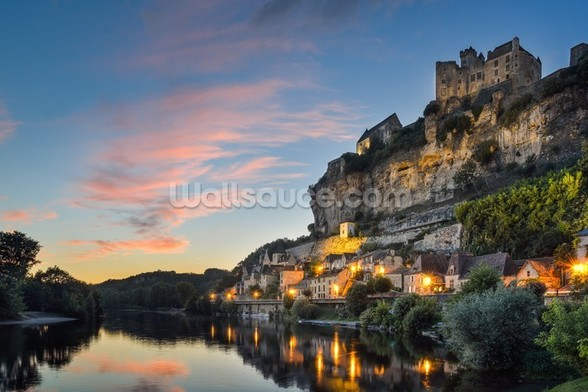 Beynac-et-Cazenac Sunset wallpaper mural