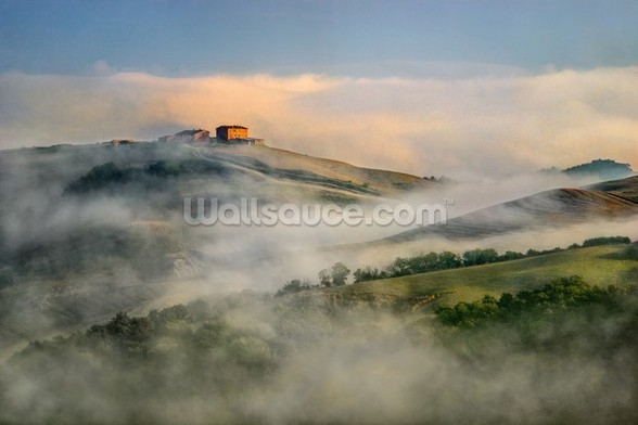Misty Landscape, Tuscany wall mural