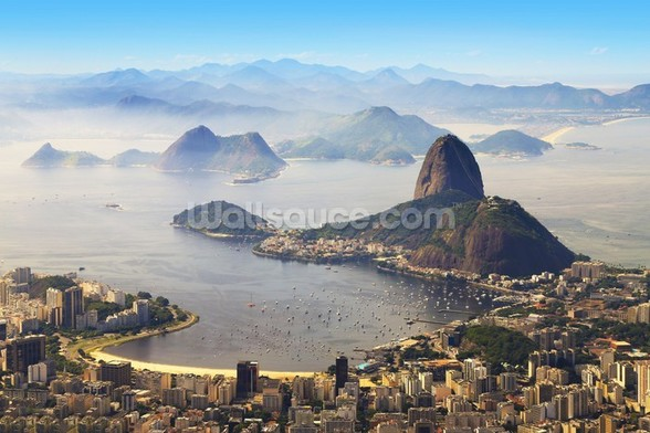 Sugarloaf Mountain mural wallpaper