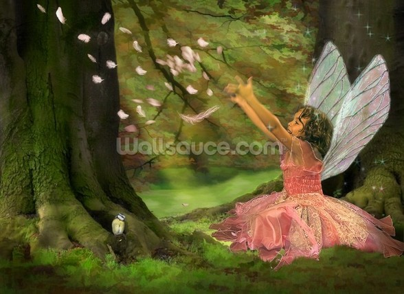 Feather Fairy wall mural