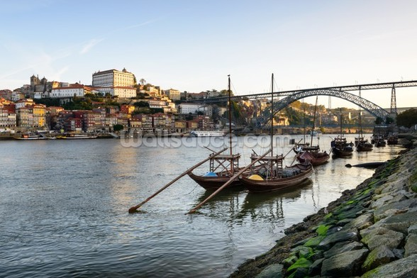 River Douro, Porto mural wallpaper