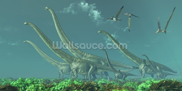 Mamenchisaurus Dinosaur Travels wall mural