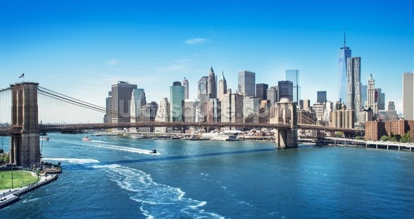 New York Brooklyn Bridge Skyline wall mural