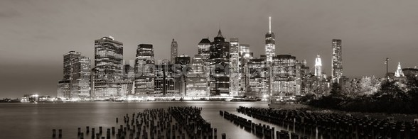 New York at Night wall mural